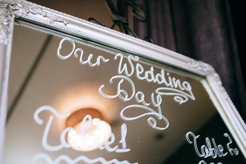 acrylic mirror for wedding