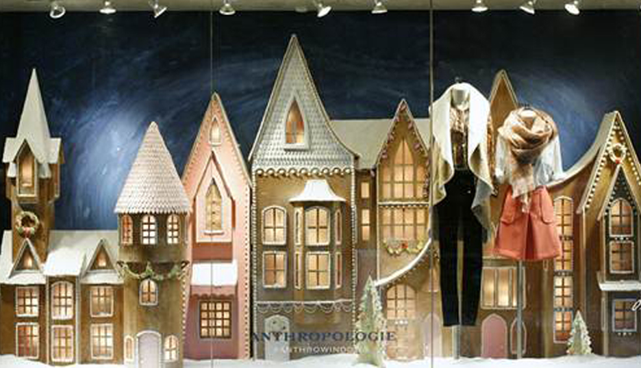 Anthropologie Holiday Window Display
