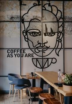 multi panel wall art coffee shop