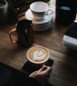 coffee imagery for coffee shop latte art