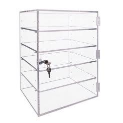"Acrylic Locking Cabinet w 4 Adjustable Shelves - 15.5""H x 11.75""W x 9.3""L"
