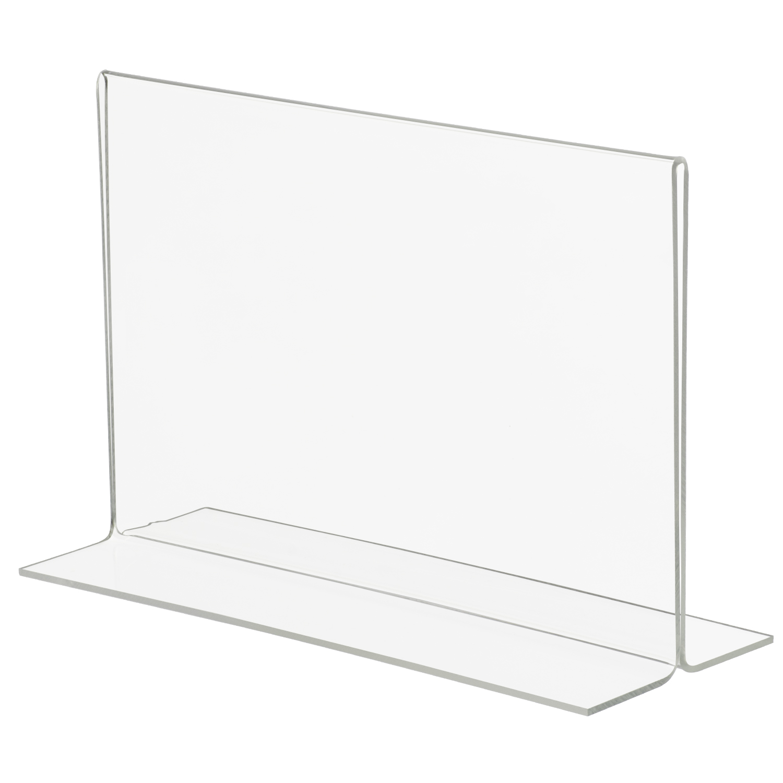 8 5x5 5 Bottom Loading Double Sided Acrylic Sign Holder