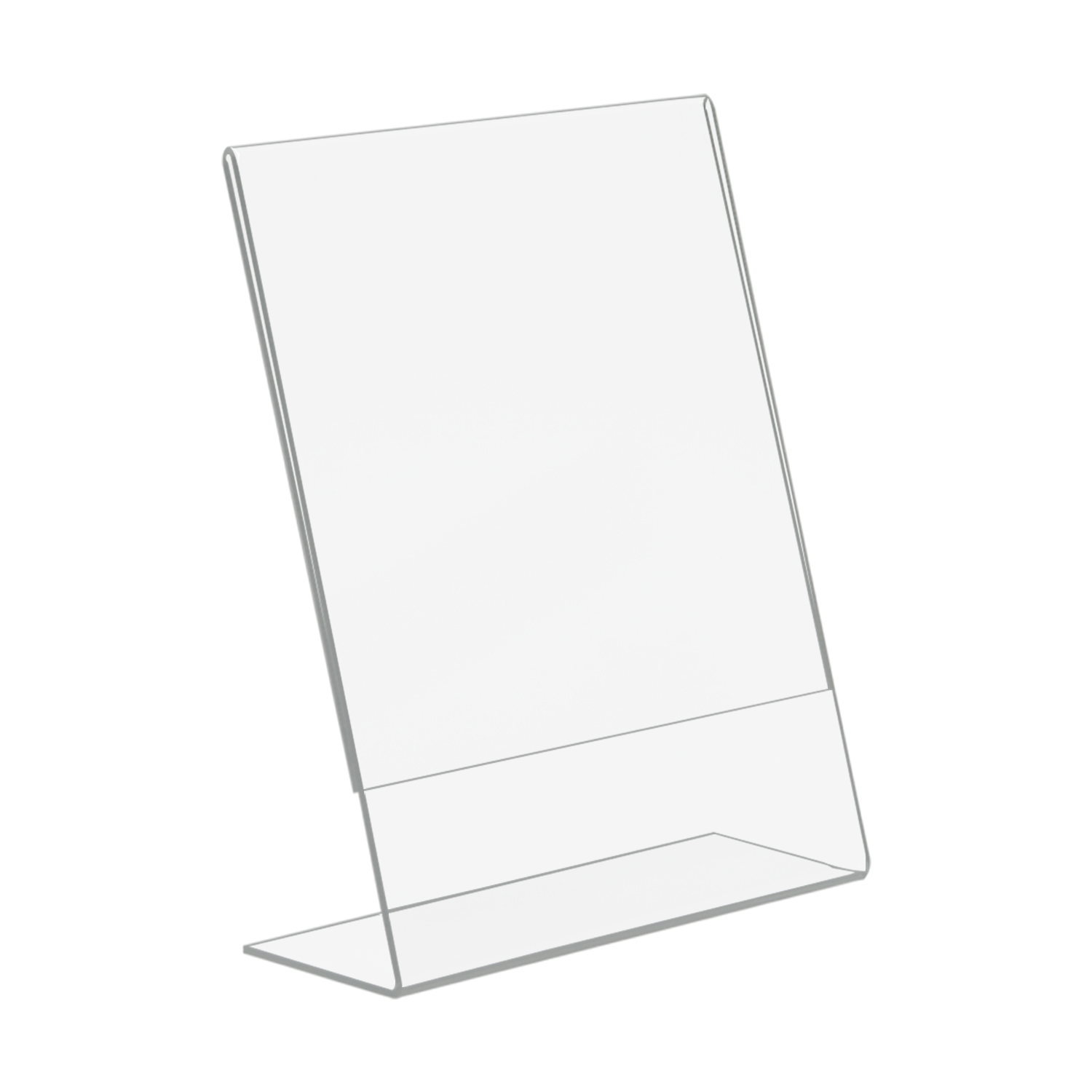5x7 slant back acrylic sign holder buy acrylic displays shop acrylic pop displays online. Black Bedroom Furniture Sets. Home Design Ideas