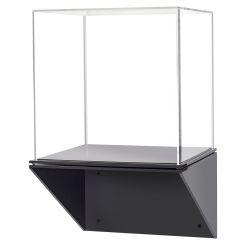 f22b8f73b47 Acrylic Display Case with Black Wall Mount Shelf