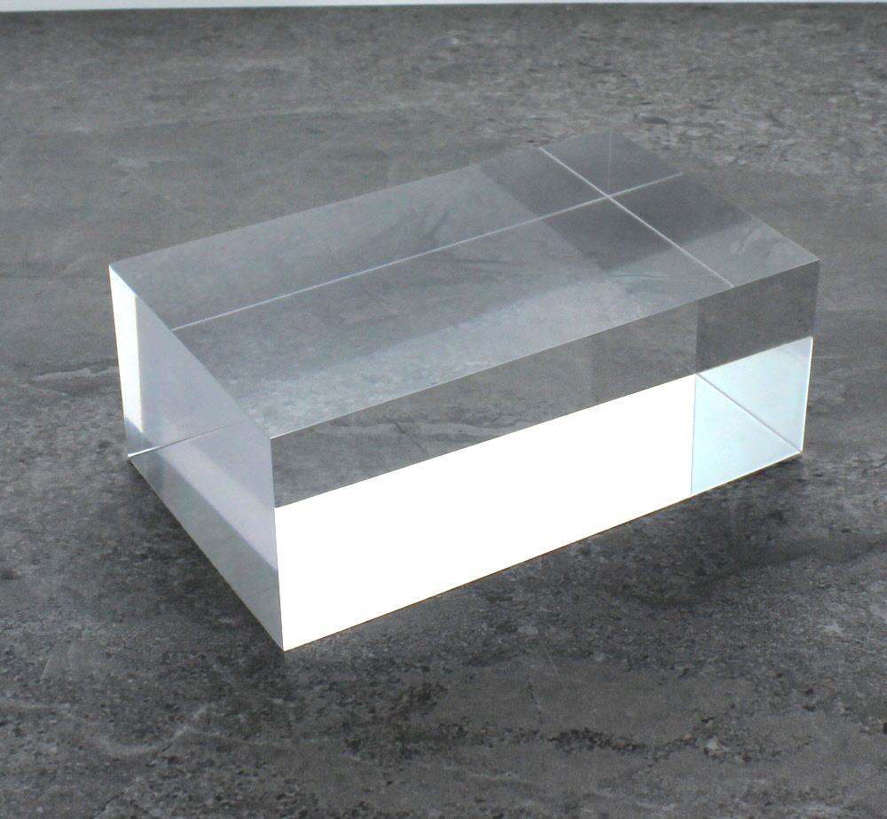 Solid Clear Acrylic Block 2 Quot X 2 Quot X 4 Quot Buy Acrylic