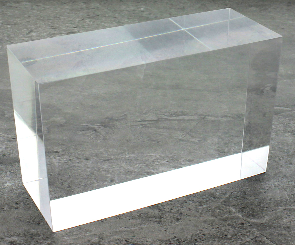 solid clear acrylic block 2 x 2 x 6 buy acrylic displays shop acrylic pop displays online. Black Bedroom Furniture Sets. Home Design Ideas