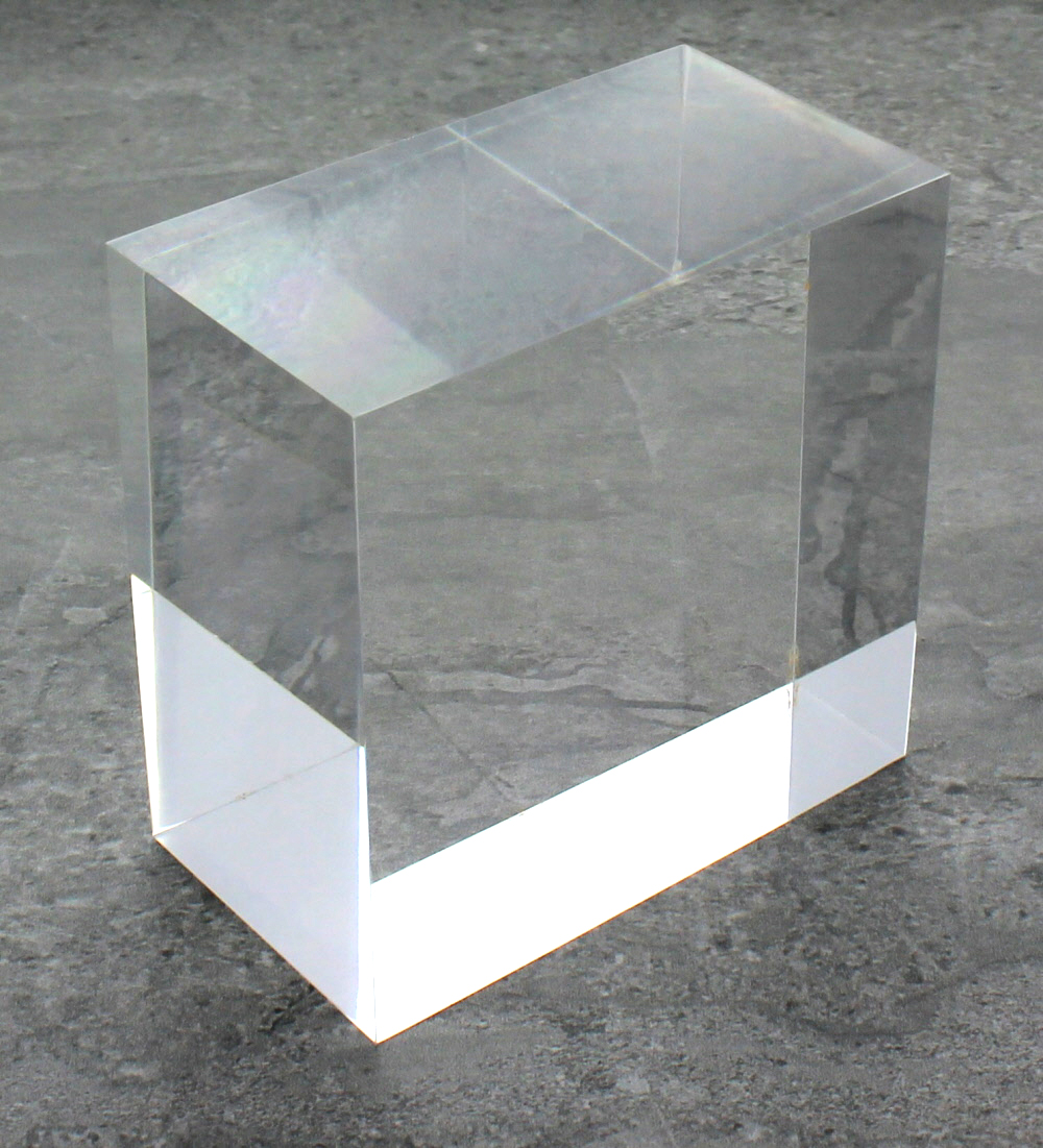Solid clear acrylic block 2 x 3 x 3 buy acrylic for Large acrylic block
