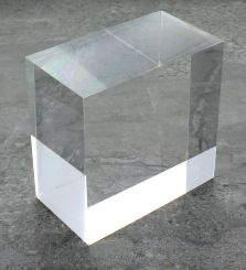 Solid acrylic display blocks buy solid acrylic cube risers for Acrylic glass blocks