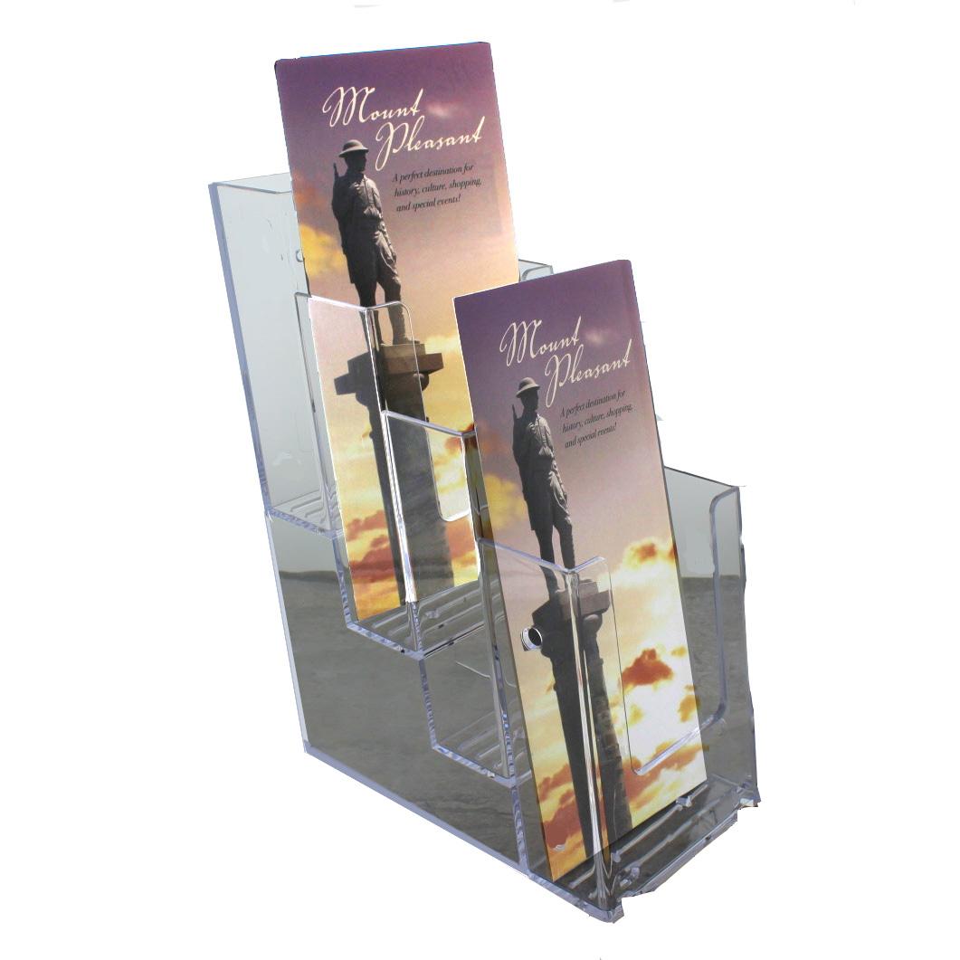 Countertop 4 Pocket Stacked Tri Fold Brochure Holder Buy