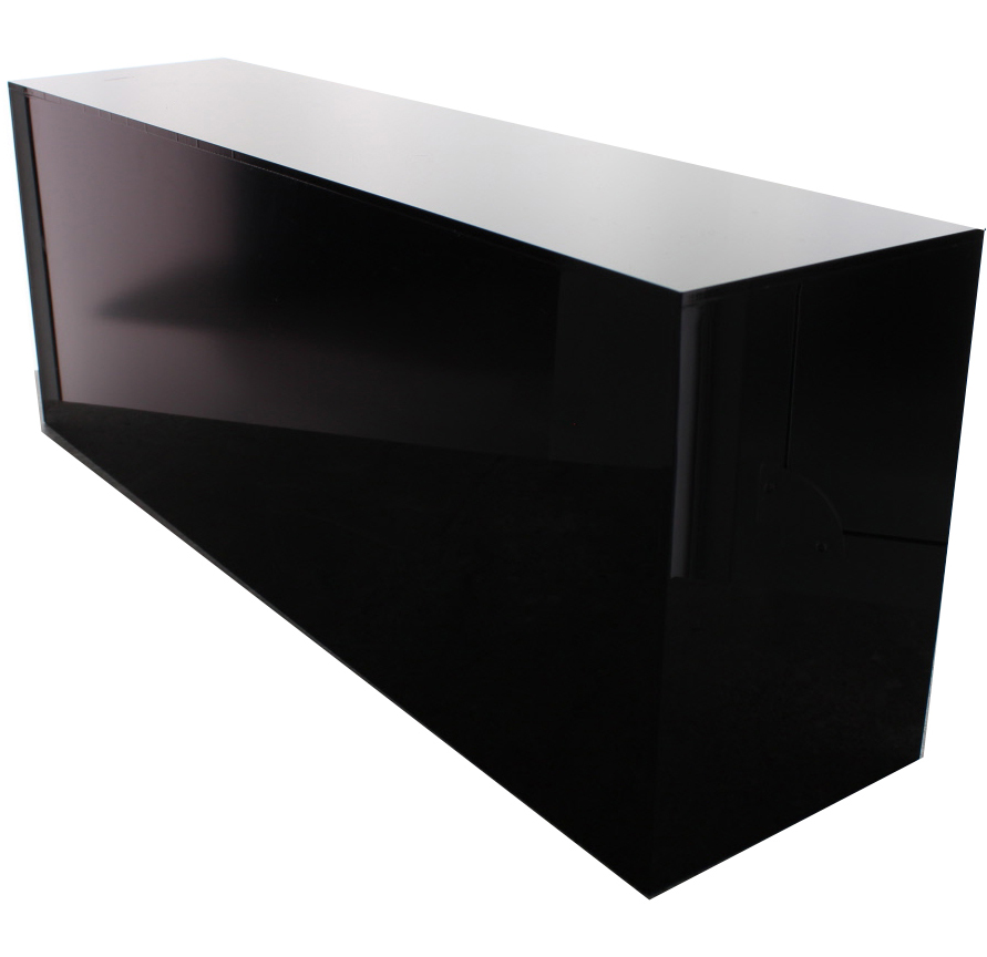 Acrylic Box Table : Sided black acrylic box quot h w l buy