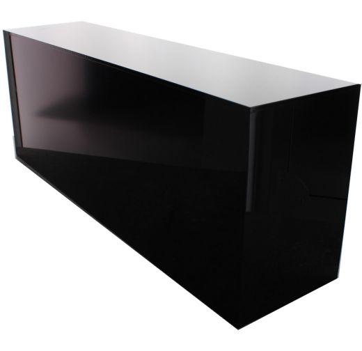 5 sided black acrylic box 4 h x 6 w x 16 l buy acrylic displays