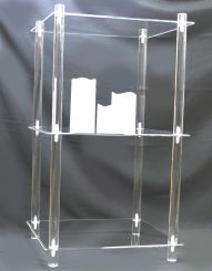 """'3 Tier Acrylic Display Shelf - 14"""" x 14"""" Square, KD' from the web at 'http://www.shoppopdisplays.com/mm5/graphics/00000001/10219p_191x245.jpg'"""