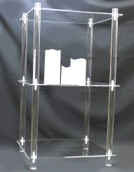 """'3 Tier Acrylic Display Shelf -  13"""" x 16"""" Rectangle, KD' from the web at 'http://www.shoppopdisplays.com/mm5/graphics/00000001/10219z_191x245.jpg'"""