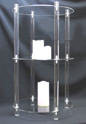 """'3 Tier Acrylic Display Shelf - 16"""" Round, KD' from the web at 'http://www.shoppopdisplays.com/mm5/graphics/00000001/10220b_171x245.jpg'"""