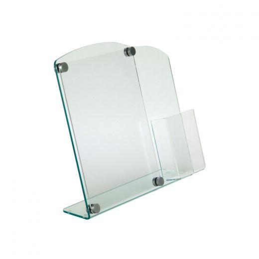 8 5x11 green edge acrylic sign holder w tri fold pocket buy