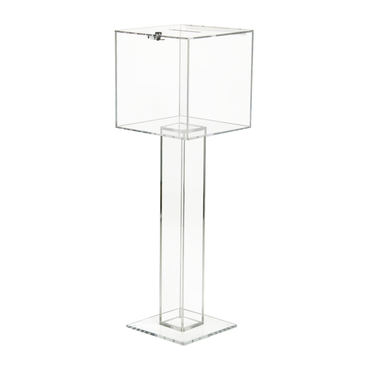 Floor Standing Pedestal Ballot Box Buy Acrylic Displays