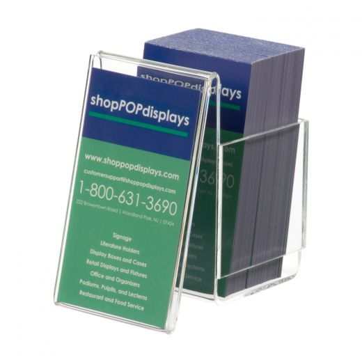 acrylic vertical business card holder with display - Vertical Business Card Holder