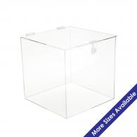 Acrylic 5 Sided Box W Shoebox Lid Buy Acrylic Displays