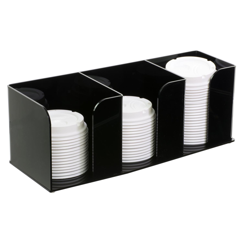 Black Acrylic 3 Bin Lid Organizer Buy Acrylic Displays