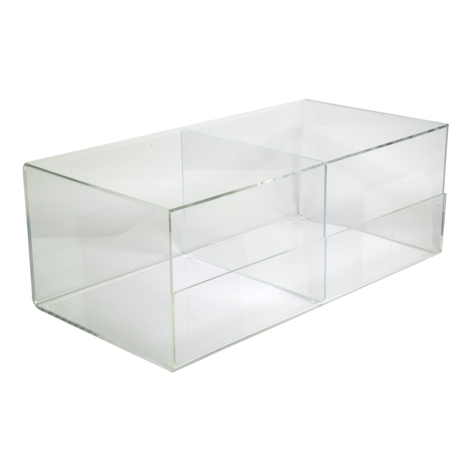 Acrylic Stackable 2 Bin Display Buy Acrylic Displays