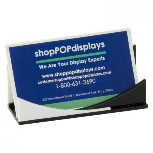 Acrylic black and white business card holder buy acrylic displays acrylic black and white business card holder reheart Choice Image