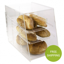 'Acrylic Slant Front 3 Tray Pastry Display' from the web at 'http://www.shoppopdisplays.com/mm5/graphics/00000001/11030-free-ship-800px_245x245.png'