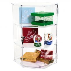 'Acrylic Rotating Hexagon Countertop Showcase' from the web at 'http://www.shoppopdisplays.com/mm5/graphics/00000001/11144_2_245x245.jpg'