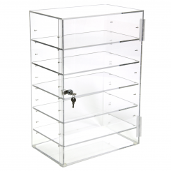 'Acrylic Locking Cabinet w/ 5 Adjustable Shelves' from the web at 'http://www.shoppopdisplays.com/mm5/graphics/00000001/11213_3_245x245.png'