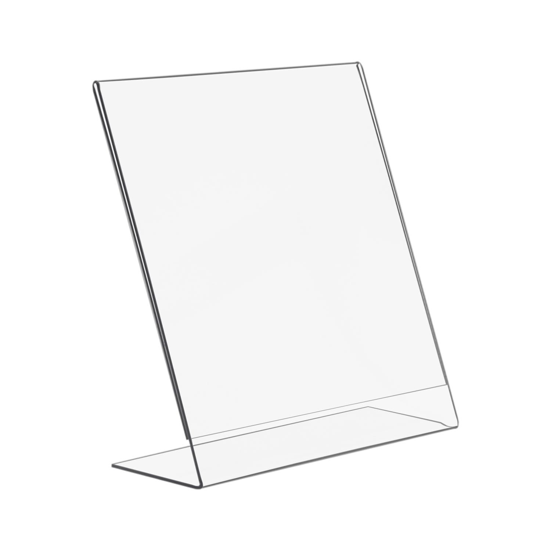 8 5x11 Slant Back Economy Plastic Sign Holder Buy