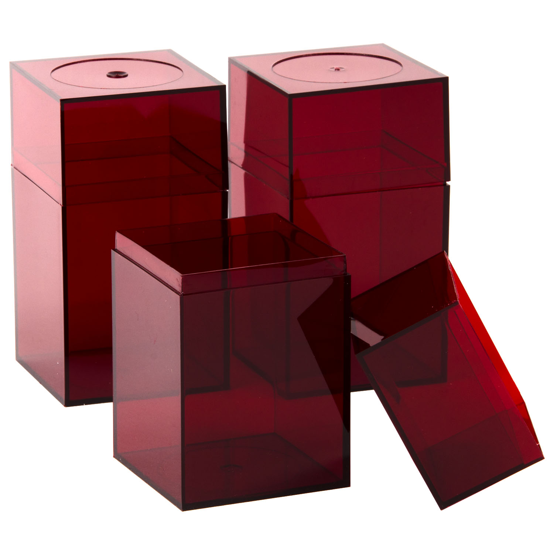 Acrylic Box Lid : Medium red plastic storage box buy acrylic