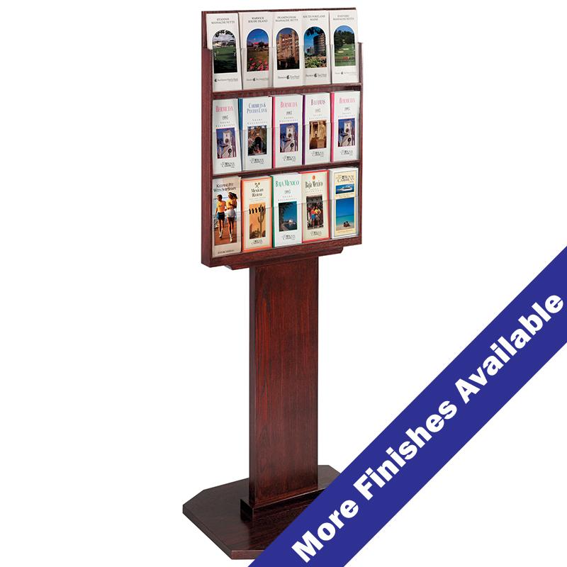 15 Pocket Wood Brochure Holder Buy Acrylic Displays