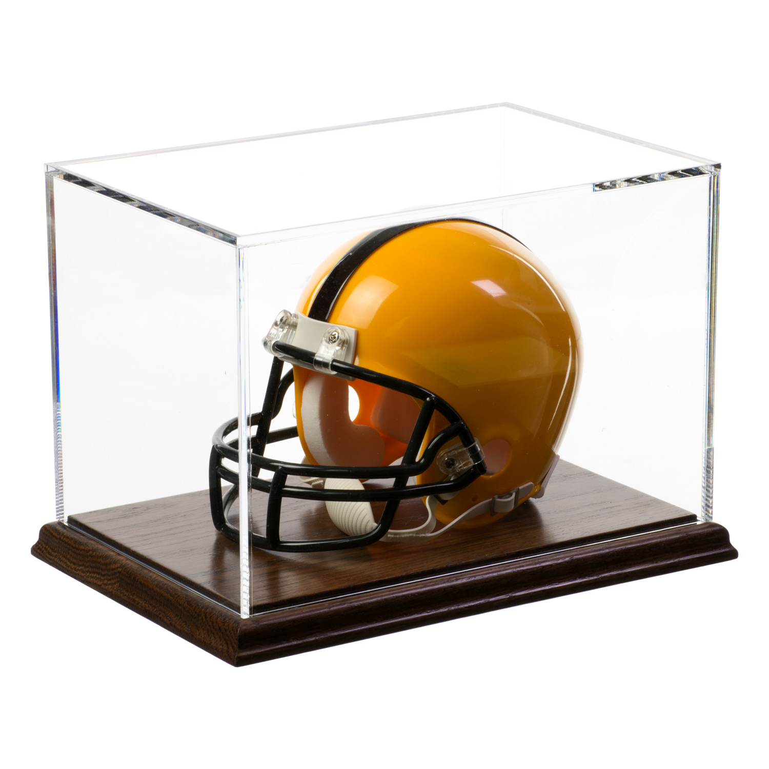 Mini Football Helmet Display Case with Wooden Base - Buy ...