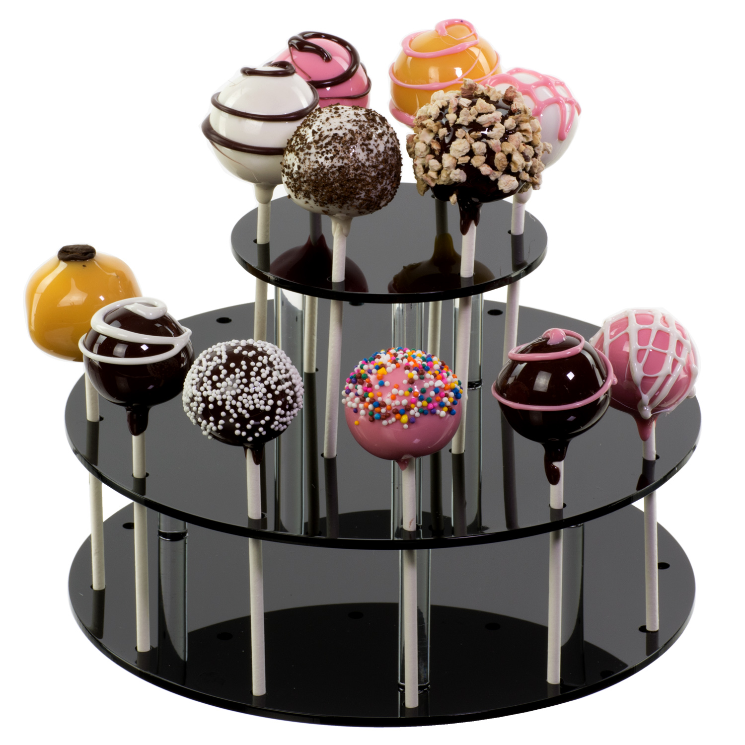 Black Acrylic Round Tiered Cake Pop Stand Buy Acrylic