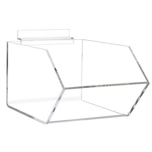 New in Box Slatwall Bins Display Bin Clear Acrylic Slat 8