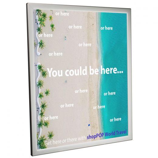 22 X 28 Snap Frame Led Light Box Silver Buy Acrylic Displays
