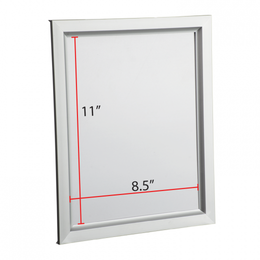 85 X 11 Slide In Poster Frame Silver Buy Acrylic Displays