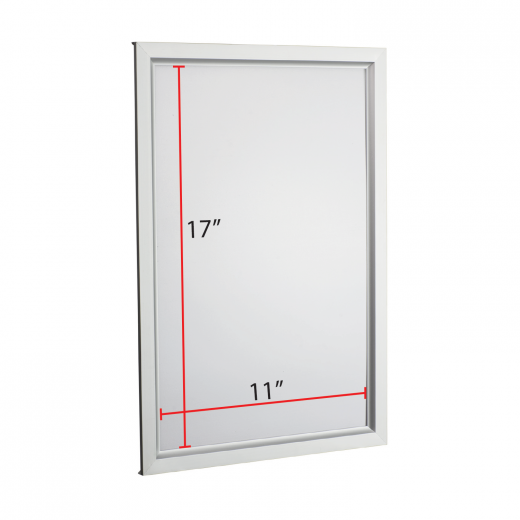 11 x 17 Slide-in Poster Frame - Silver - Buy Acrylic Displays | Shop ...