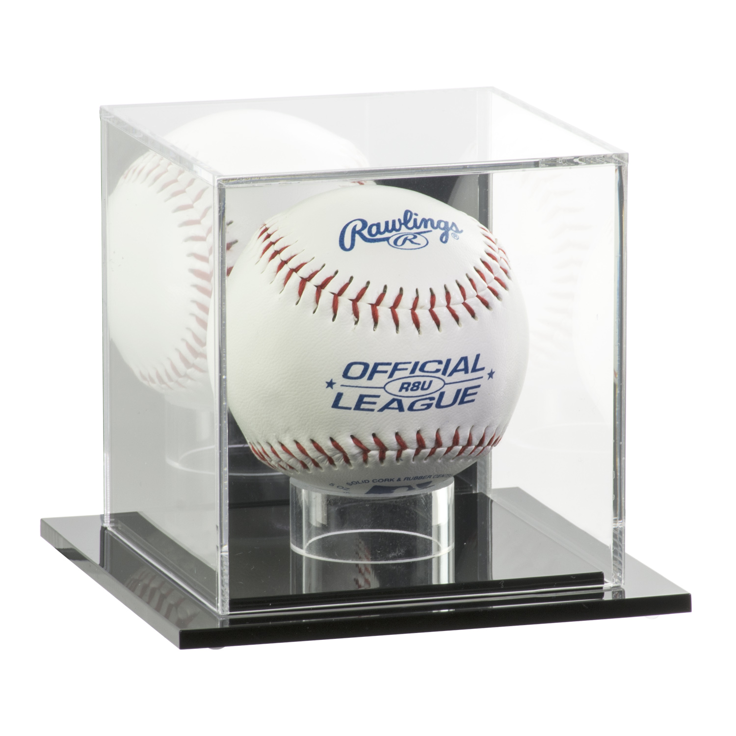 Acrylic Baseball Display Case With Mirror Back Buy