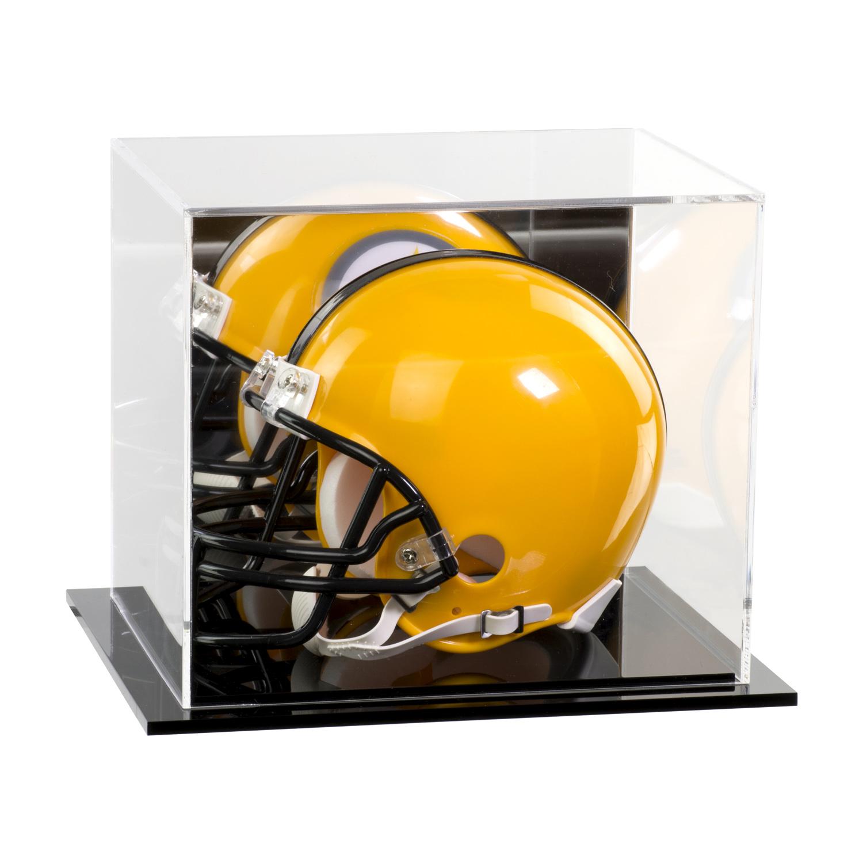 Acrylic Mini Football Helmet Display Case With Mirror Back