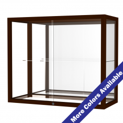 'Wooden Mirrored Single Shelf Display Case' from the web at 'http://www.shoppopdisplays.com/mm5/graphics/00000001/12414CV_MoreColors_245x245.png'