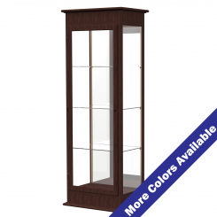 '2' Wide Wooden Lighted Floor Standing Display Case with Hinged Doors and Mirrored Back' from the web at 'http://www.shoppopdisplays.com/mm5/graphics/00000001/12419ES_MoreColors_245x245.png'