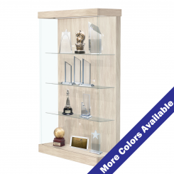 '4' Wide Lighted Wood Laminate Right Sliding Door Display Case' from the web at 'http://www.shoppopdisplays.com/mm5/graphics/00000001/12422BW_2_MC_245x245.png'