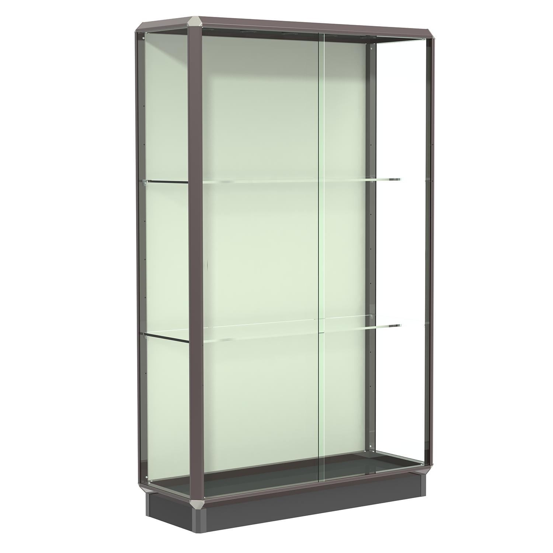 Dark Bronze 4 Wide Aluminum Frame Floor Standing Display