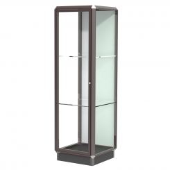 'Dark Bronze 2' Wide Aluminum Frame Floor Standing Display Case with Locking Doors' from the web at 'http://www.shoppopdisplays.com/mm5/graphics/00000001/12425DZ_245x245.png'