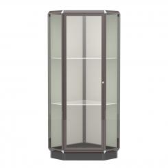 'Dark Bronze Aluminum Frame Floor Standing Corner Display Case' from the web at 'http://www.shoppopdisplays.com/mm5/graphics/00000001/12426DZ_245x245.png'