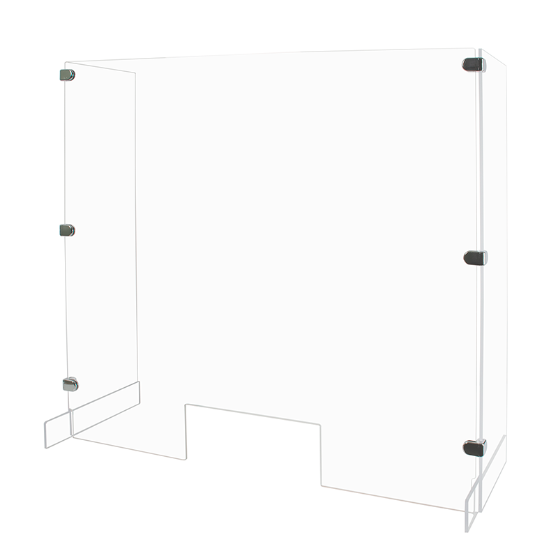 G.E.T Qty 1 Enterprises Acrylic Rectangular Sneeze Guard for a 29 Display Frilich Collection EB703E