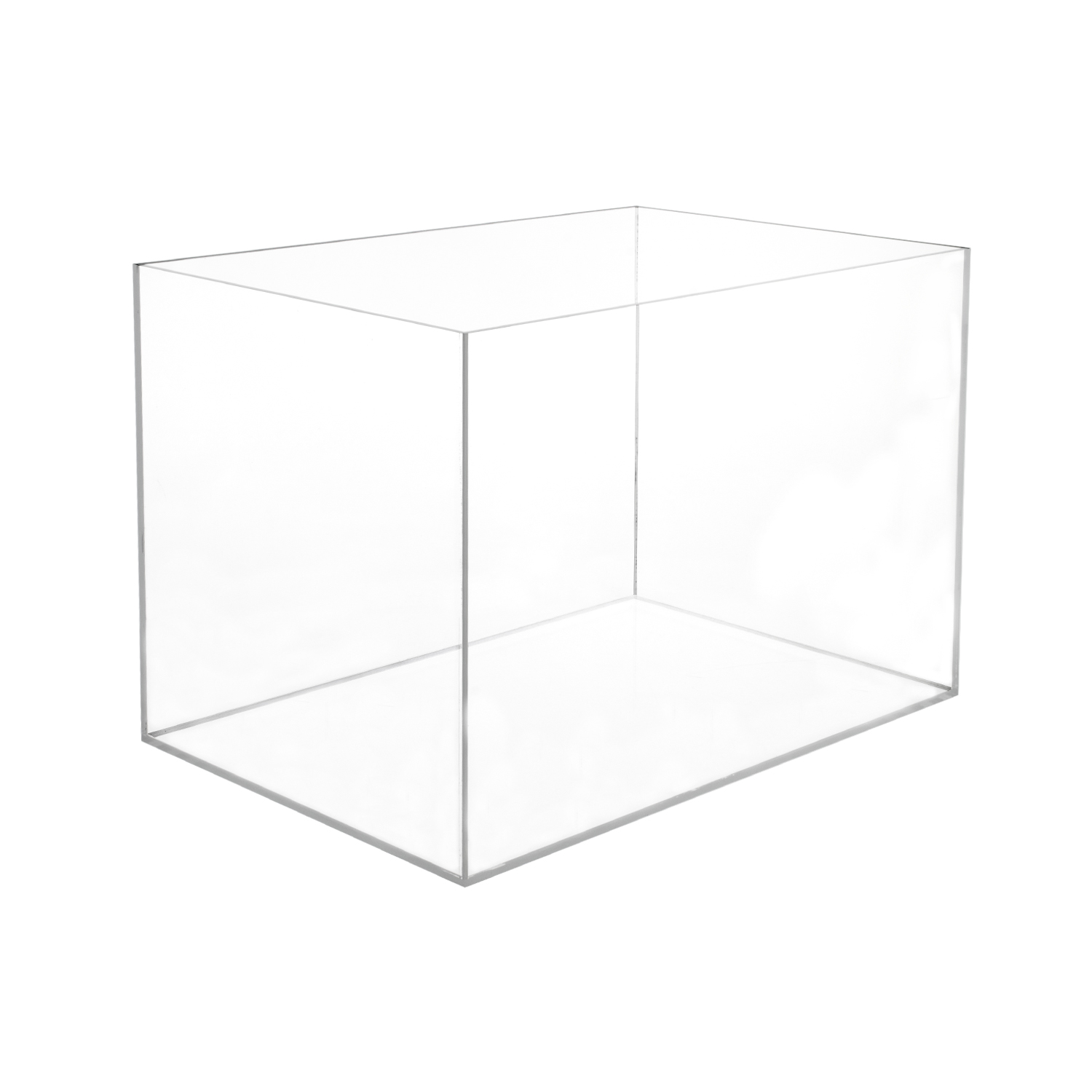 Acrylic 5 Sided Box 12 Quot H X 12 Quot W X 18 Quot L Buy Acrylic