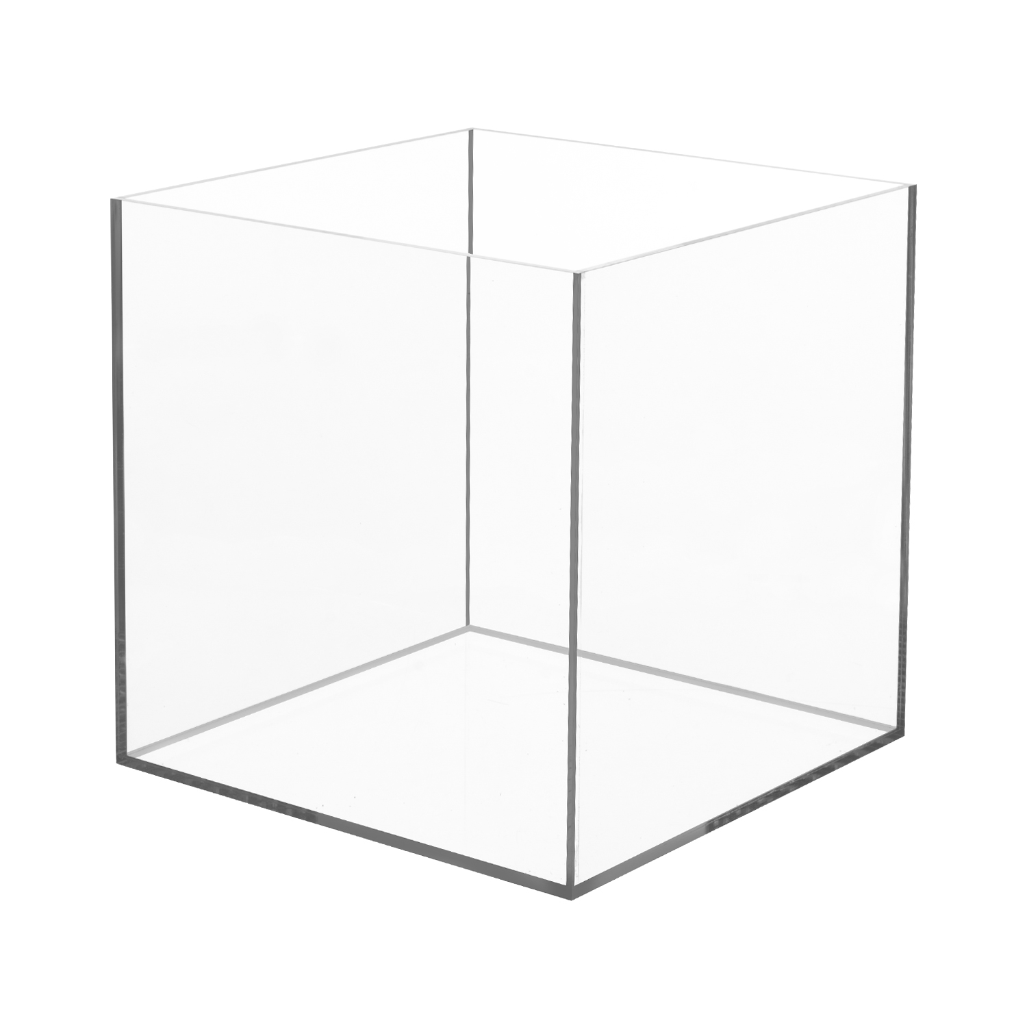 acrylic 5 sided box 16 x 16 x 16 buy acrylic displays shop acrylic pop displays online. Black Bedroom Furniture Sets. Home Design Ideas