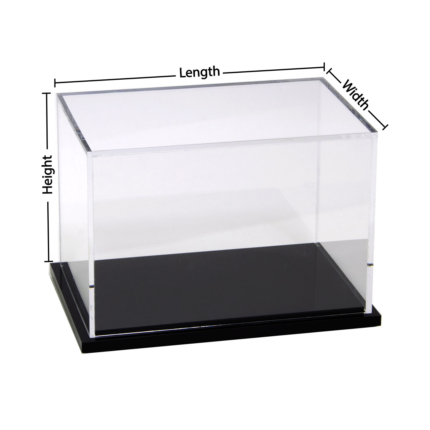 5 Sided Clear Acrylic Box - Custom Size - Buy Acrylic ...
