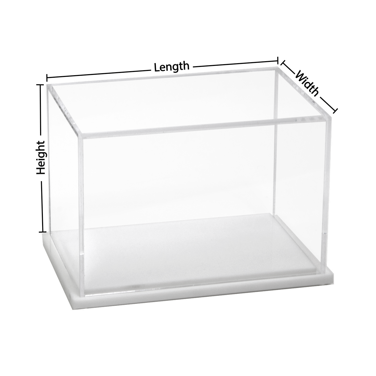 Mm Size Glass Clear Plastic Display Containers